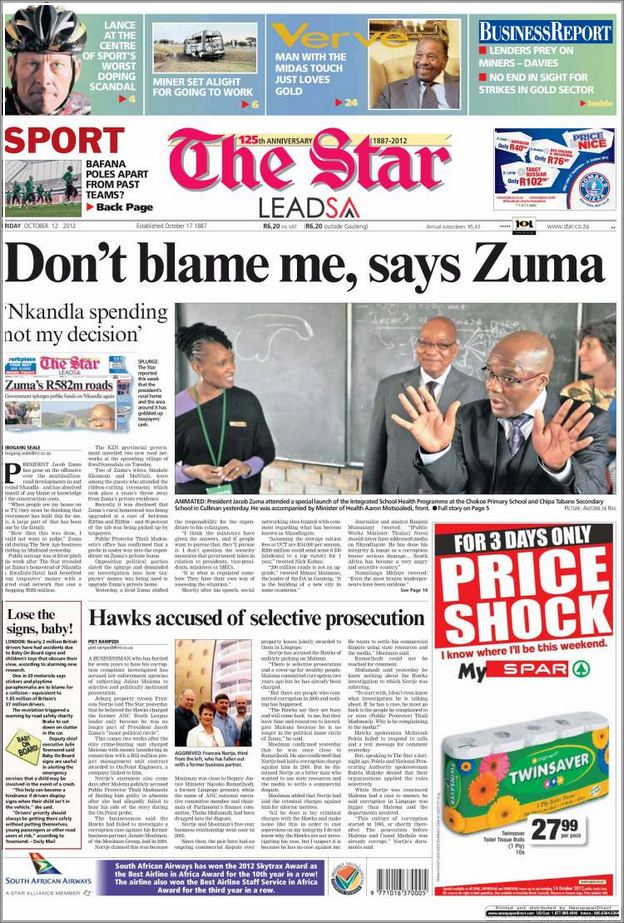 South African Newspapers On The Internet