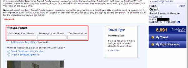 Southwest Travel Funds App