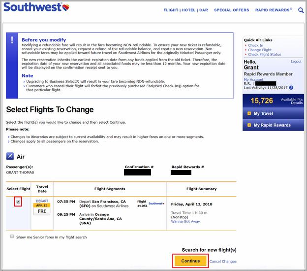 Southwest Travel Funds For Hotel