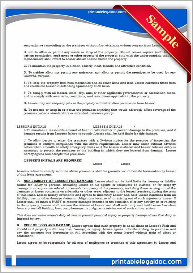 Standard Lease Agreement Pa