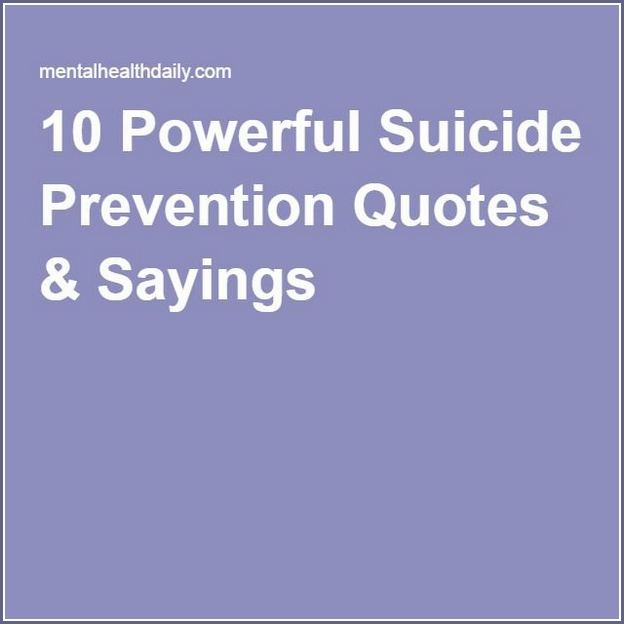 Suicide Prevention Quotes Pinterest