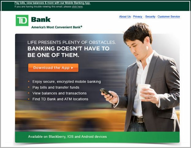 Td Bank Business Direct Mobile App