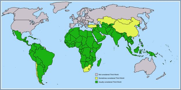 Third World Countries List 2017