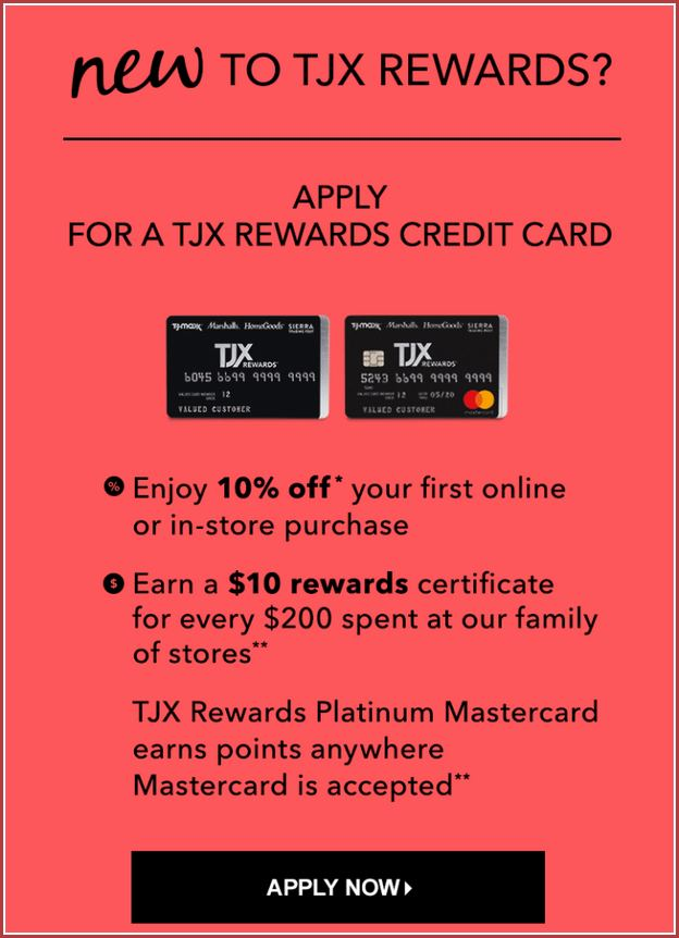 Tjx Mastercard Credit Card Payment Online