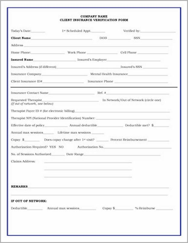 Tricare Proof Of Insurance Form