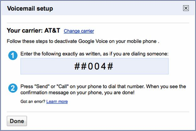 Turn Off Google Voice Voicemail