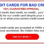 Unsecured Credit Cards For Bad Credit Instant Approval