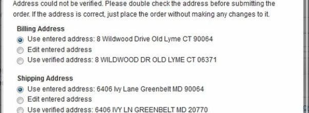 Usps Verify Address Form