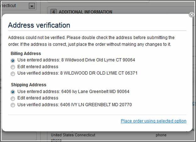 Usps Verify Shipping Address
