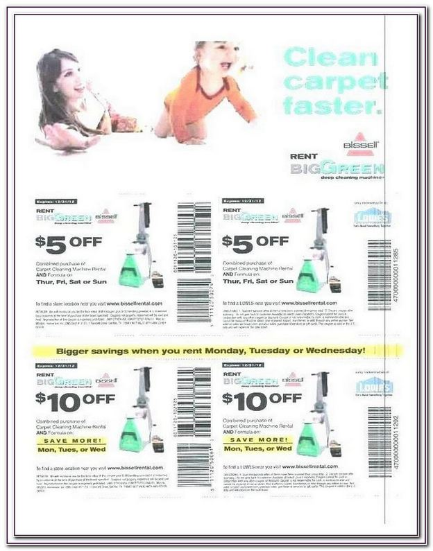 Bissell Carpet Cleaner Rental Coupon 2017
