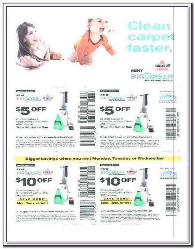 Bissell Carpet Cleaner Rental Coupon 2017